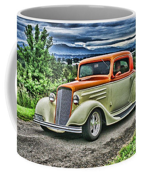 Cars Coffee Mug featuring the photograph Classic Ford Hdr by Randy Harris