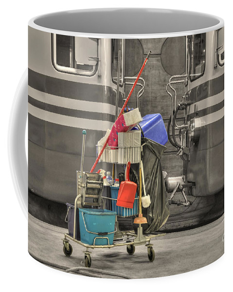 Cleaning Equipment Coffee Mug featuring the photograph Cleaning Equipment by Mats Silvan