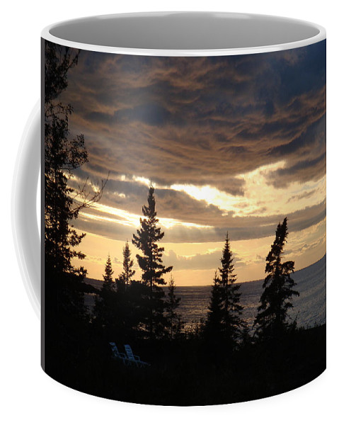 Sky Coffee Mug featuring the photograph Clearing Sky by Bonfire Photography