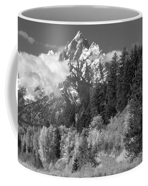 Bronstein Coffee Mug featuring the photograph Clearing Storm On Grand Teton by Sandra Bronstein