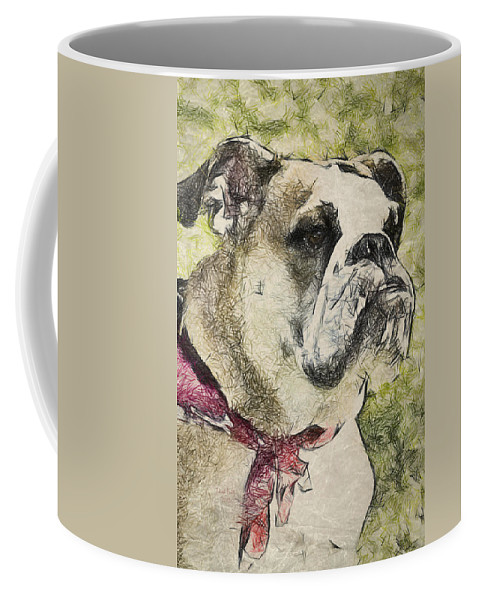Dog Coffee Mug featuring the photograph Clementine by Trish Tritz