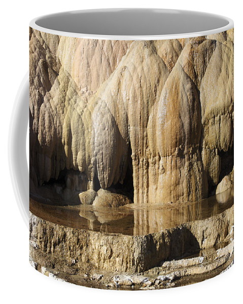 Unesco Coffee Mug featuring the photograph Cleopatra Terrace, Mammoth Hot Springs by Richard Roscoe