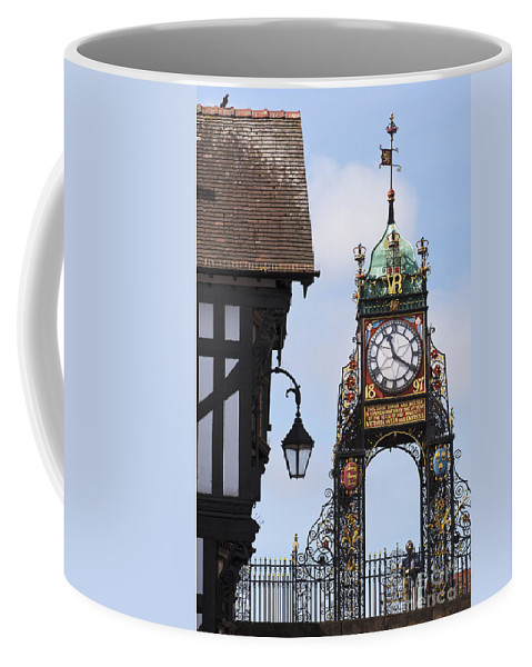 2011 Coffee Mug featuring the photograph Clock In Chester by Andrew Michael
