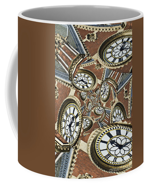 Abstract Coffee Mug featuring the photograph Clocked by Clare Bambers