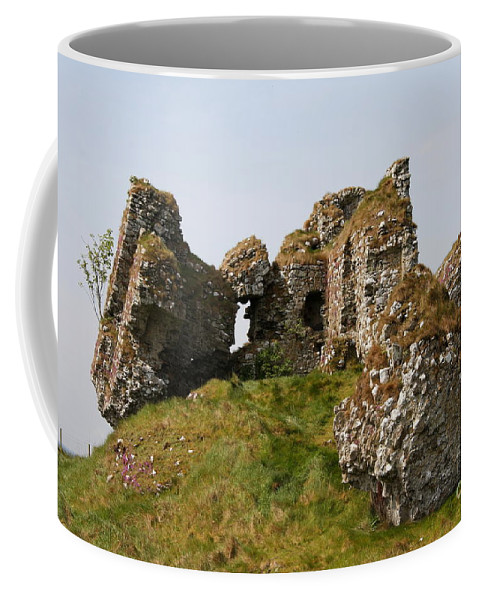 Clonmacnoise Castle Coffee Mug featuring the photograph Clonmacnoise Castle Ruin - Ireland by Christiane Schulze Art And Photography