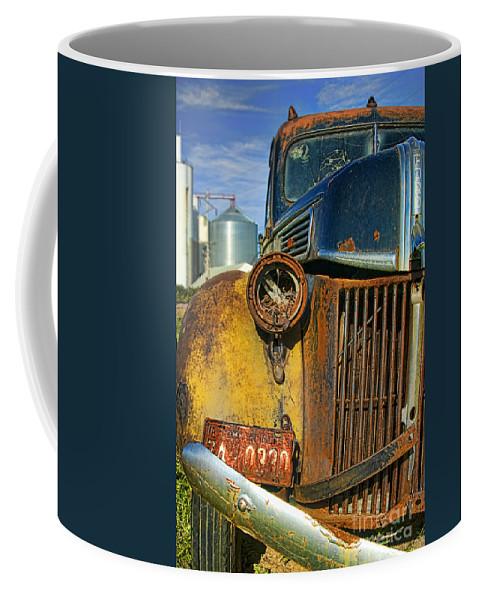 Truck Coffee Mug featuring the photograph Close Up Of Rusty Truck by Jill Battaglia