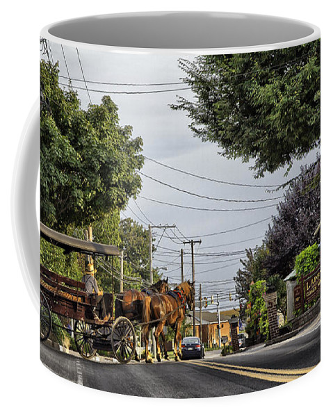 Amish Coffee Mug featuring the photograph Closed On Sundays 2 - Amish Country by Madeline Ellis