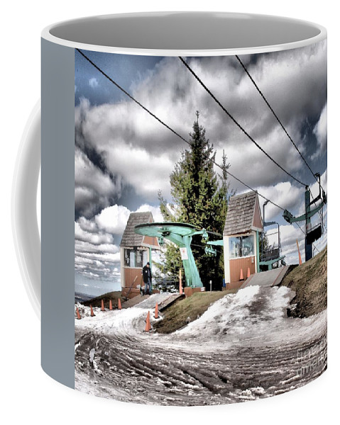 Skiing Coffee Mug featuring the photograph Closing Time by Adam Jewell
