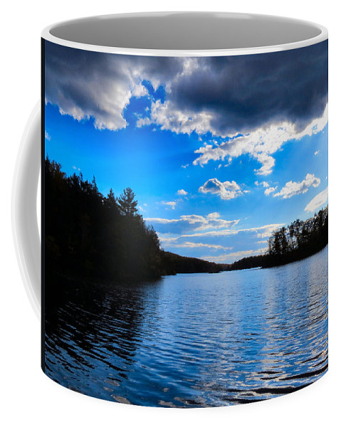 Fall Coffee Mug featuring the photograph Cloud Reflections by Art Dingo