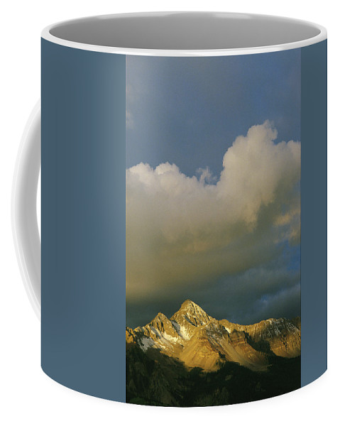 North America Coffee Mug featuring the photograph Clouds Above Mount Wilson by Gordon Wiltsie