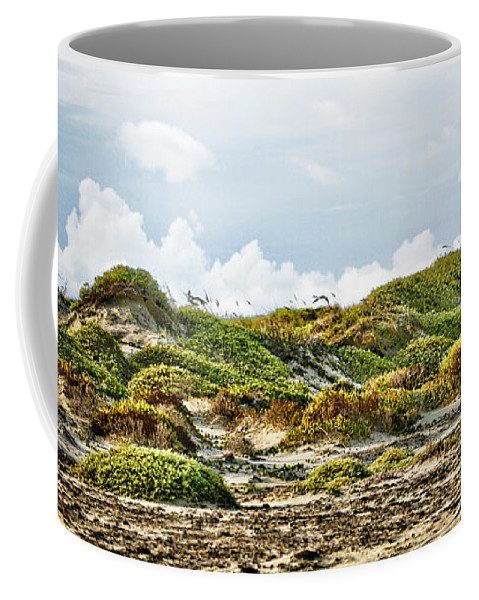 Texas Coffee Mug featuring the photograph Clouds And Dunes by Marilyn Hunt