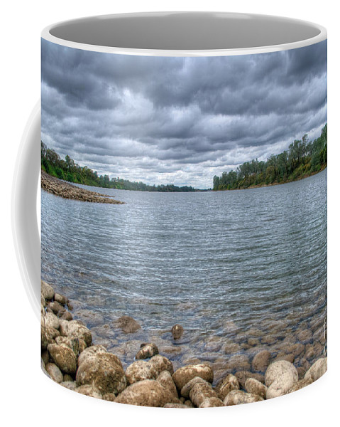 River Coffee Mug featuring the photograph Clouds Over The American River by Diego Re