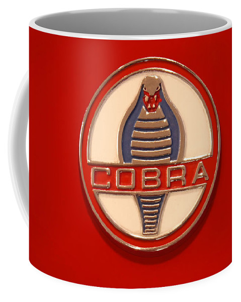 Transportation Coffee Mug featuring the photograph Cobra Emblem by Mike McGlothlen