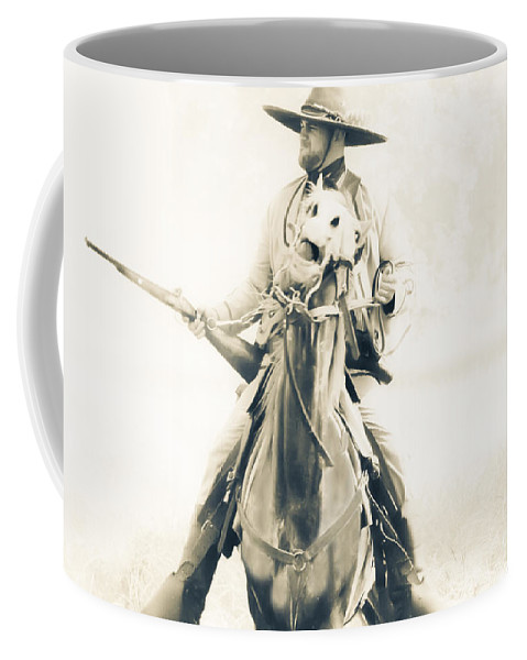 Reenactment Coffee Mug featuring the mixed media Cocked And Ready by Kim Henderson