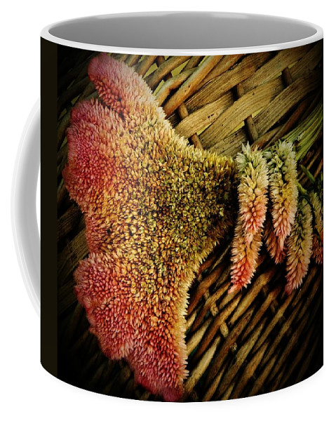 Cockscomb Coffee Mug featuring the photograph Cockscomb And Basket by Chris Berry