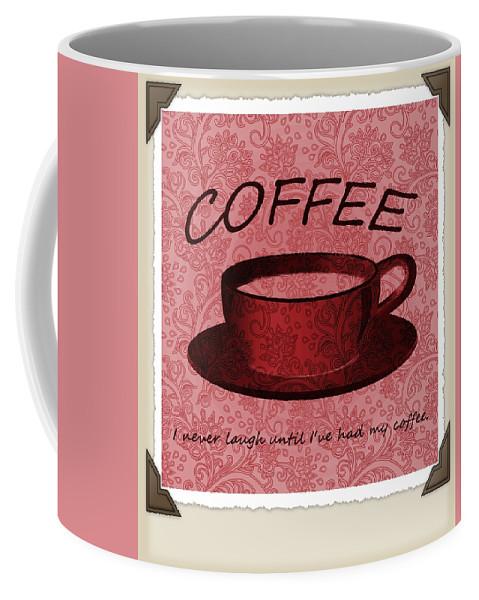 Coffee Coffee Mug featuring the digital art Coffee 2 Scrapbook by Angelina Vick