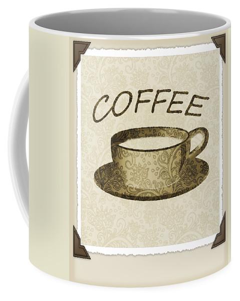 Coffee Coffee Mug featuring the digital art Coffee 3-2 Scrapbook by Angelina Vick
