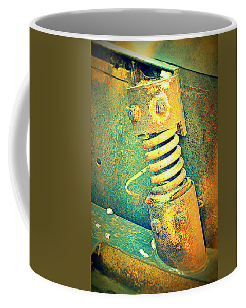 Rusted Metal Coffee Mug featuring the photograph Coil by Diane montana Jansson