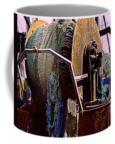 New Bedford Coffee Mug featuring the photograph Coiled by Marysue Ryan