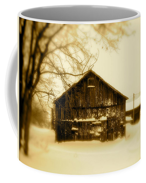 Landscape Coffee Mug featuring the photograph Cold On The Ridge by Arthur Barnes