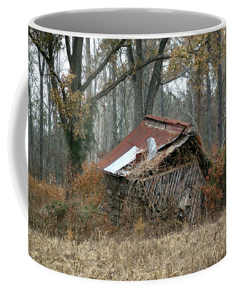 Tobacco Barn Coffee Mug featuring the photograph Collapse by Travis Truelove