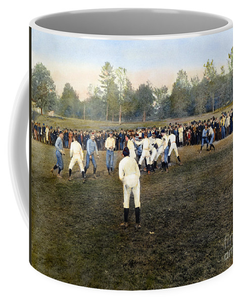 1889 Coffee Mug featuring the photograph College Footbal Game, 1889 by Granger
