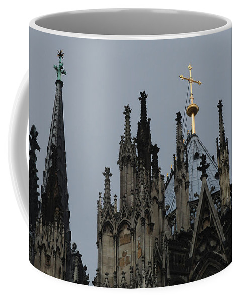 Christianity Coffee Mug featuring the photograph Cologne Cathedral Towers by Bob Christopher