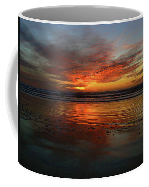 Orange Coffee Mug featuring the photograph Color Burst Reflection by Pamela Patch