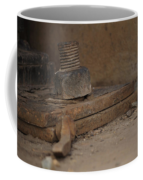 Nuts Coffee Mug featuring the photograph Color Of Steel 1 by Fran Riley