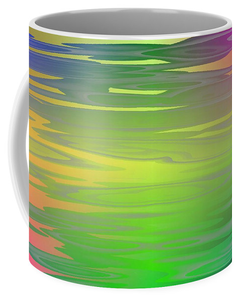 Art Coffee Mug featuring the digital art Color Play by Jeff Iverson