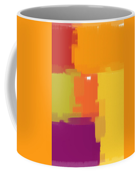 Painting Coffee Mug featuring the painting Colorblock by Heidi Smith