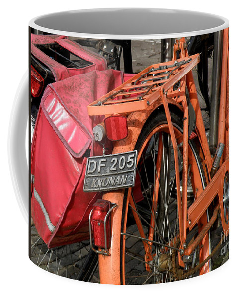Bikes Coffee Mug featuring the photograph Colorful Dutch Bikes by Lainie Wrightson