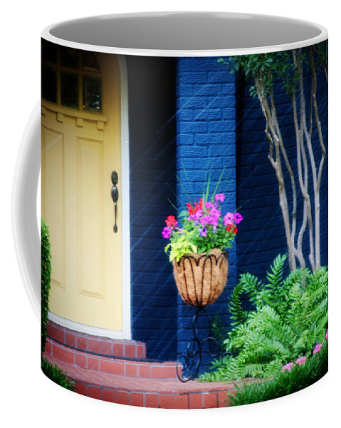 Porch Coffee Mug featuring the photograph Colorful Porch by Toni Hopper