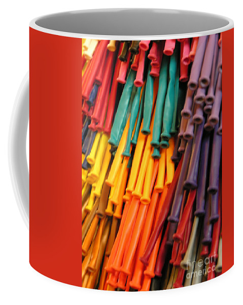 Rubber Bands Hanging Coffee Mug featuring the photograph Colors For All Ages by Diane Greco-Lesser
