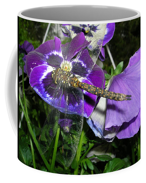 Dragonfly Coffee Mug featuring the photograph Colors Of Nature by Tara Ellis