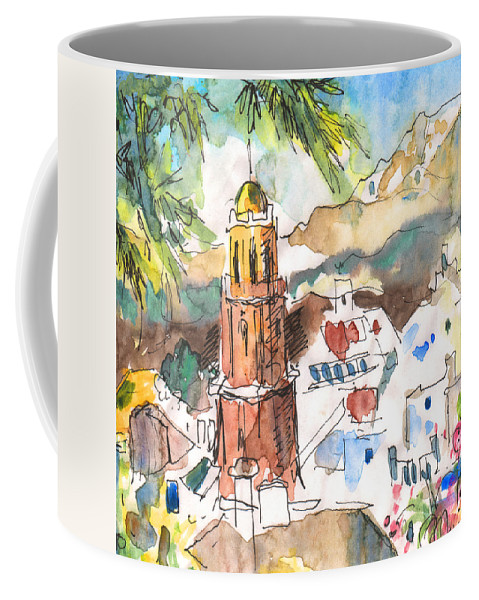 Travel Coffee Mug featuring the painting Competa 01 by Miki De Goodaboom