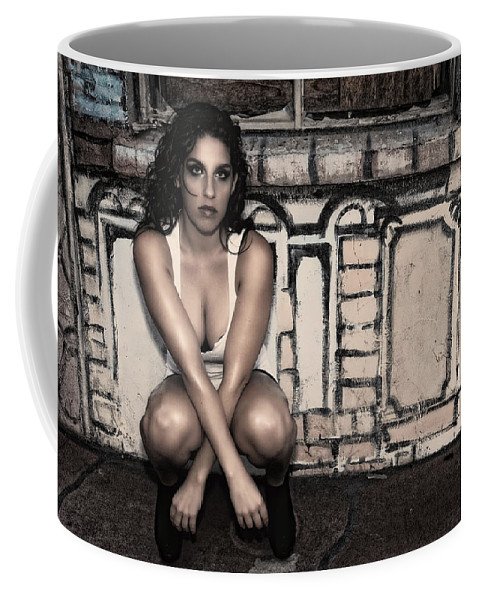 Woman Coffee Mug featuring the photograph Concrete Velvet 10 by Donna Blackhall