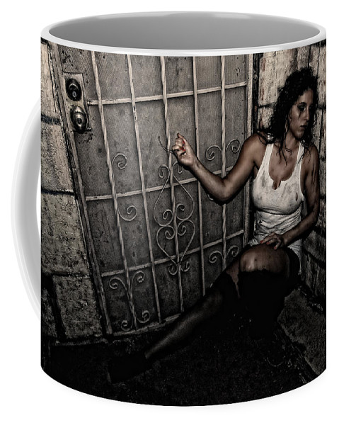 Woman Coffee Mug featuring the photograph Concrete Velvet 29 by Donna Blackhall
