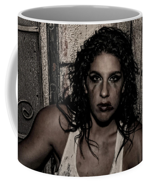 Woman Coffee Mug featuring the photograph Concrete Velvet 30 by Donna Blackhall
