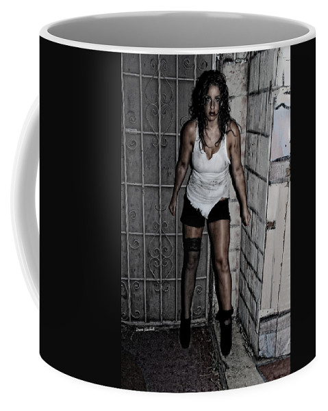 Woman Coffee Mug featuring the photograph Concrete Velvet 39 by Donna Blackhall