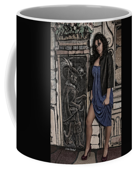 Woman Coffee Mug featuring the photograph Concrete Velvet 5a by Donna Blackhall