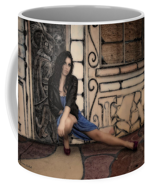 Woman Coffee Mug featuring the photograph Concrete Velvet 7 by Donna Blackhall