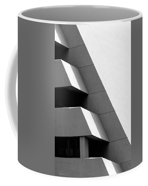 Architectural Coffee Mug featuring the photograph Concretely Abstract View by Vicki Pelham