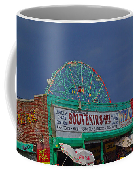 New York Coffee Mug featuring the photograph Coney Island Facades by Rich Walter