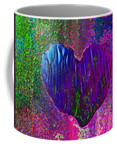 Heart Coffee Mug featuring the photograph Contours Of The Heart by David Pantuso