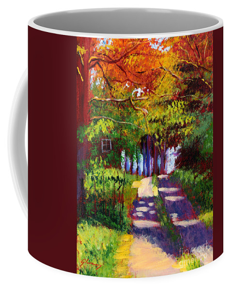 Landscape Coffee Mug featuring the painting Cool Country Land Plein Air by David Lloyd Glover