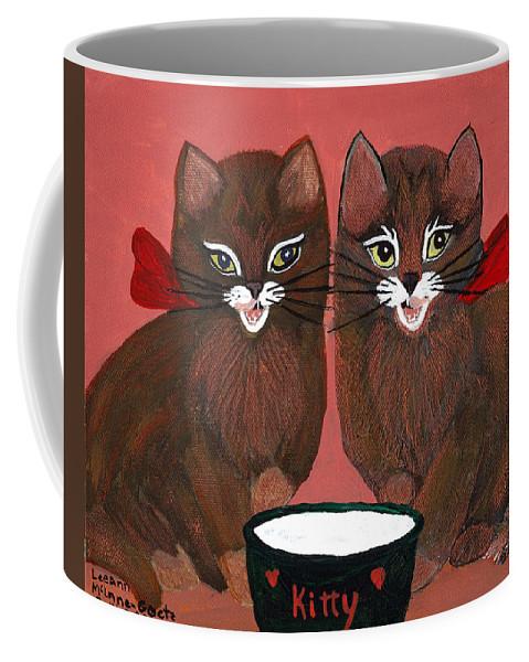 Animals Coffee Mug featuring the painting Copper Kitty by LeeAnn McLaneGoetz McLaneGoetzStudioLLCcom