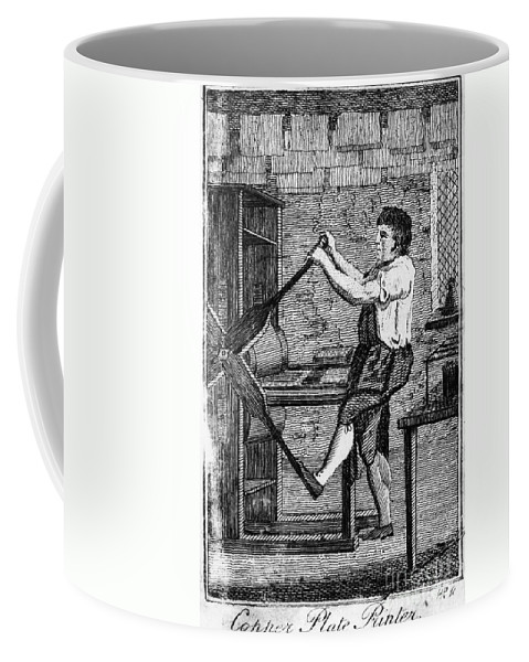 1807 Coffee Mug featuring the photograph Copper Plate Printer, 1807 by Granger