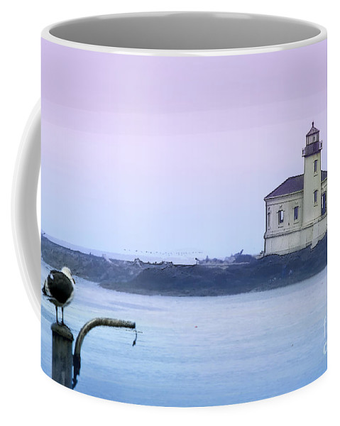 Lighthouse Coffee Mug featuring the photograph Coquille River Lighthouse by Betty LaRue
