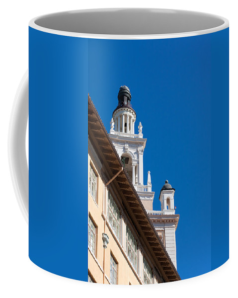 Biltmore Coffee Mug featuring the photograph Coral Gables Biltmore Hotel Tower by Ed Gleichman